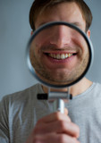 guy with magnifying glass