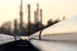 canvas print picture - pipe line conection in oil refinery