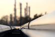 Leinwanddruck Bild - pipe line conection in oil refinery