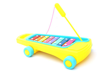 Xylophone - toy for child on white background