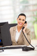 business woman answering telephone