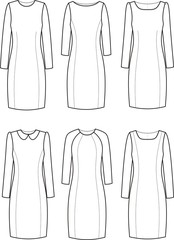 Vector illustration of elegant dresses