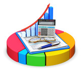 Fototapety Accounting and statistics concept