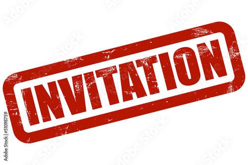 Grunge Stempel rot INVITATION