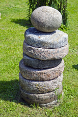 historical millstone group in farm