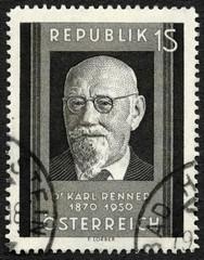 AUSTRIA - 1951: Karl Renner (1870-1950), president of Austria