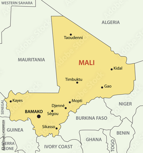 Republic of Mali - vector map