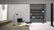 interno con libreria01