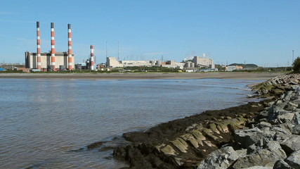 Power plant. Wide angle. Saint John, New Brunswick.