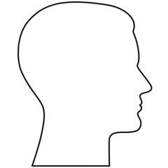 Kontur eines männlichen Kopfes im Profil – Vektor