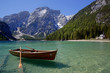 canvas print picture - LAGO DI BRAIES