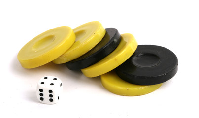 Backgammon dice