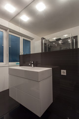 Minimalist apartment - wash basin