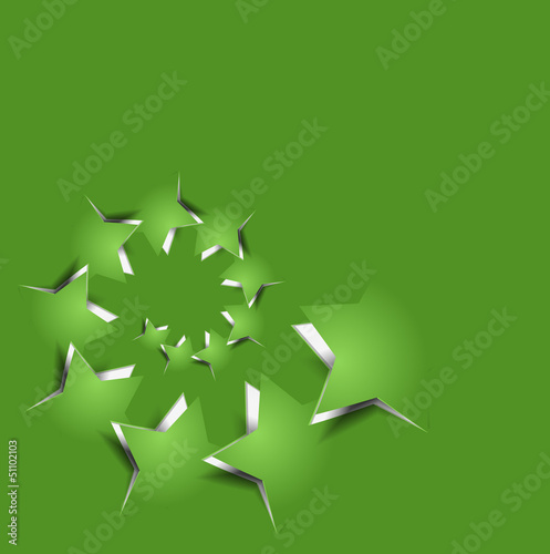 vector peel off star, eps10 illustration.