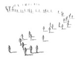 Crowd of walking people