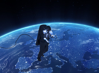 Spacewalk over Europe