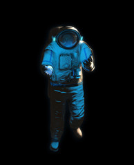 An atronaut in space