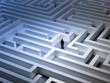 Tiny man in a maze