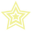Stylized retro star isolated. Vector