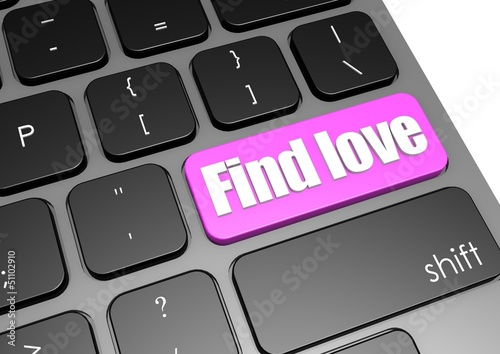 Find love with black keyboard