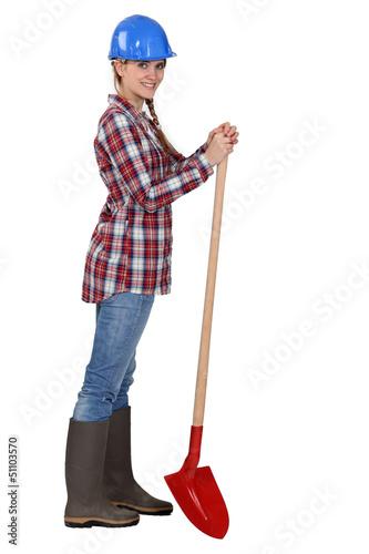 Female landscape gardener