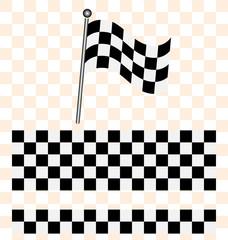 Racing flag, line