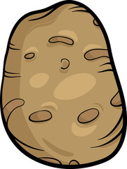 potato vegetable cartoon illustration