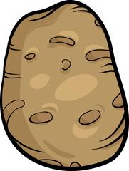 potato vegetable cartoon illustration