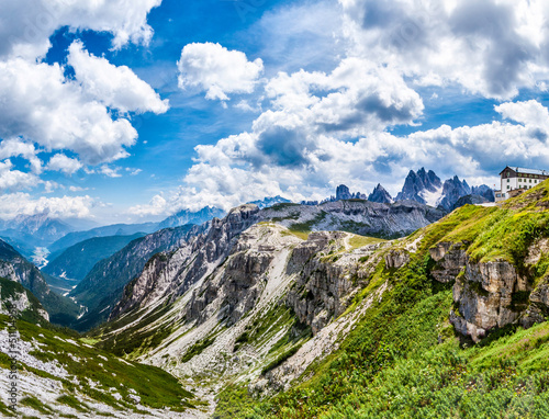 beautiful panorama of mountains