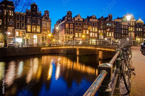Spoed canvasdoek 2cm dik Amsterdam Amsterdam