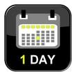 Schwarzer Button - 1 Tag