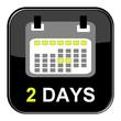 Schwarzer Button - 2 Tage