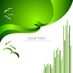 yeşil illüstrasyon kapak soyut
