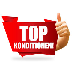 Top Konditionen! Button, Icon