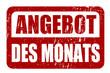 ANGEBOT des MONATS, stempel