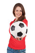 Girl with a soccer Ball in hand
