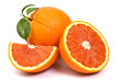 Red orange fruit on white background