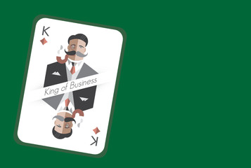King of Business playing card