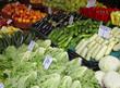 Vegetables market stall