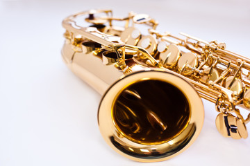 A fragment of a saxophone