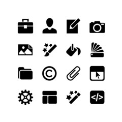 16 icons set. Web design