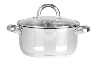 Sauce pan. Isolated