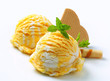Egg Liqueur-Vanilla ice cream