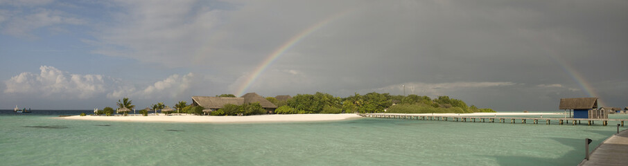 Rainbow on a lagoon
