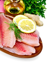 Fillets tilapia with oil and ginger