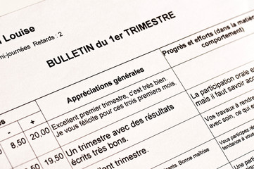Bulletin scolaire