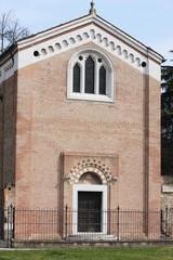 exterior facade of the CAPPELLA DEGLI SCROVEGNI in Padua