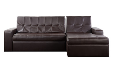 Wide couch. Isolated