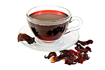 Tea hibiscus with petals