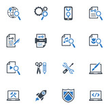 SEO & Internet Marketing Icons - Set 1 | Blue Series